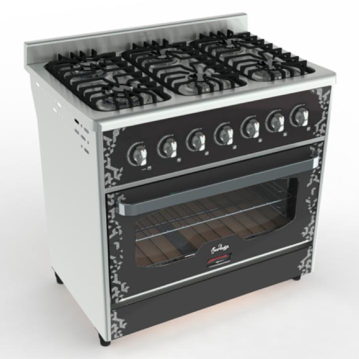 Cocina Annata 90 cm Negra