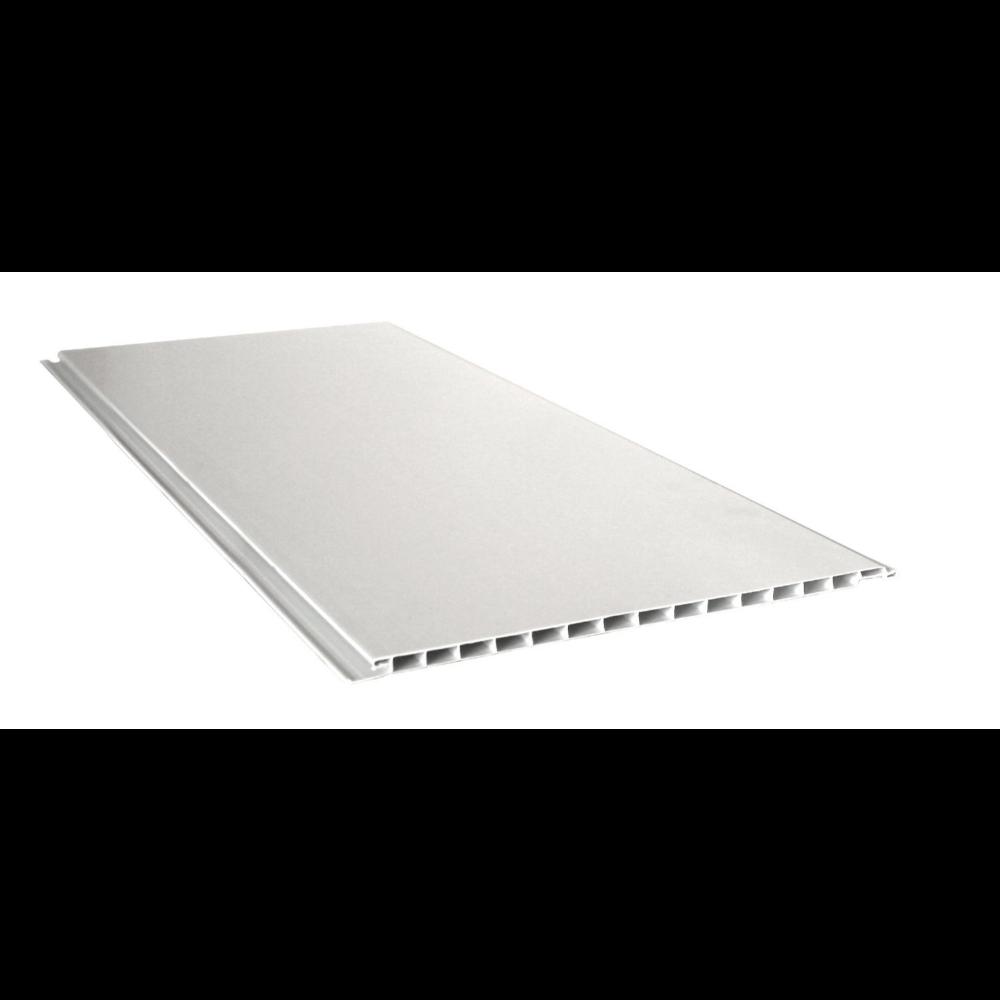 PLACA REVEST PVC BLANCO LISO ECO 200X10X5 MTS. (PRECIOXM2)
