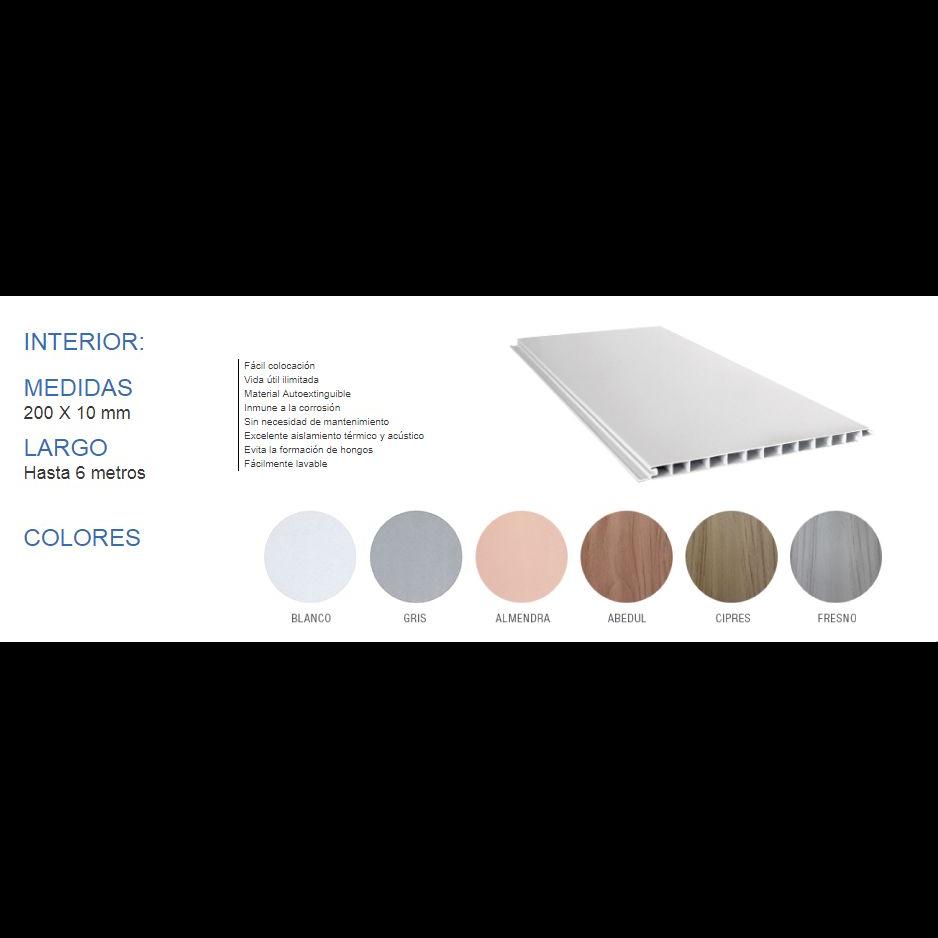 PLACA REVEST PVC COLOR SIMIL MADE 200X10MMX6 MTS.(PRECIOXM2)