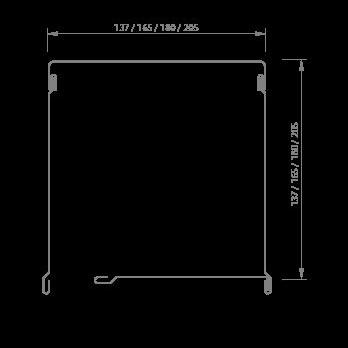 COMPACTO 4 PARTES ALUM. Y CORTINA ALUMINIO INYE DE 1.00×1.00